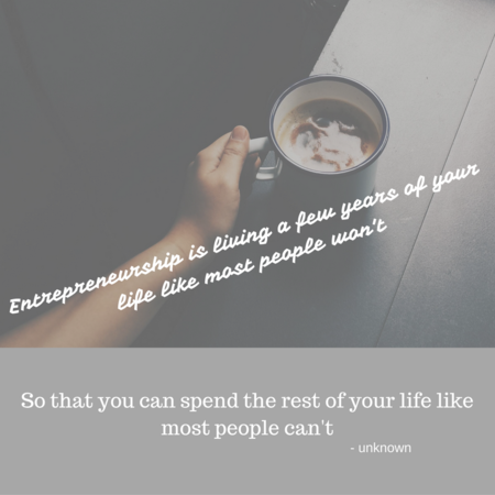 Entrepreneurship Quote and coffee